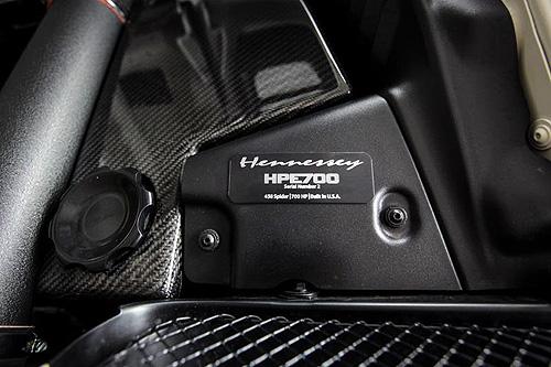 Hennessey改造《法拉利458 Spider》馬力上看738匹