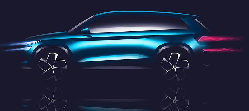 7人座量產版有望9月問世 《Škoda VisionS》概念車定裝照搶先曝光