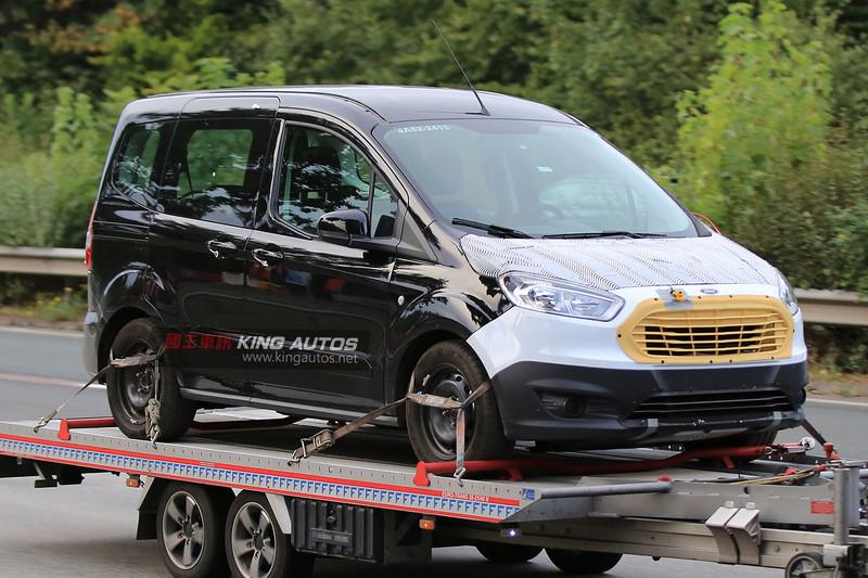 福特旅行家最小成員《Ford Tourneo Courier》即將小改款 輕度偽裝車意外曝光