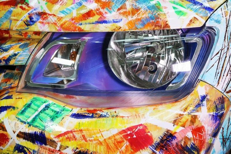 前進法國《Renault Kwid Art Car》融合印度的行動藝術