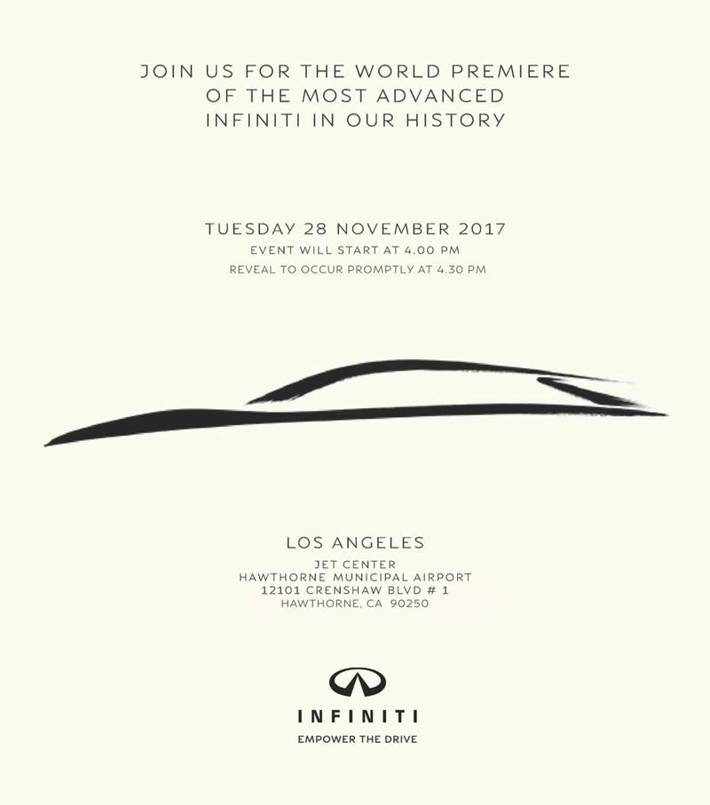 《Infiniti》神秘新作預告2017年11月28日洛杉磯現身