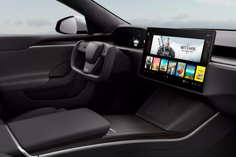 堪比PS5等級!直接在《Tesla Model S/X》車上玩爆Cyberpunk 2077