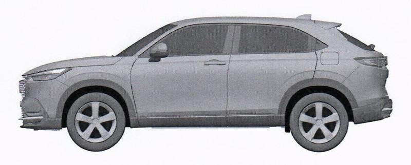 新世代《Honda HR-V》變大轉厚實?外觀設計專利圖疑似流出