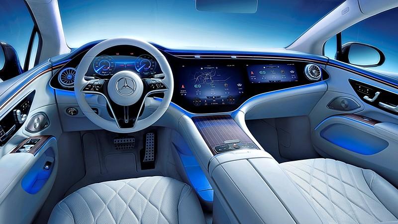 中控台56吋全螢幕再現?!《Mercedes-Benz EQS SUV》純電休旅版 內裝捕獲