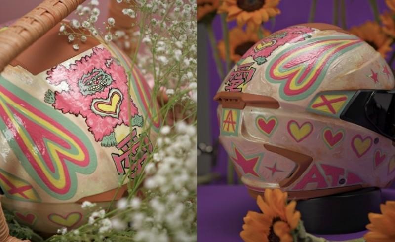 IRIE x 藝術界周湯豪「阿泰」 全球僅此一頂的超夢幻蛋糕系粉嫩復刻安全帽!