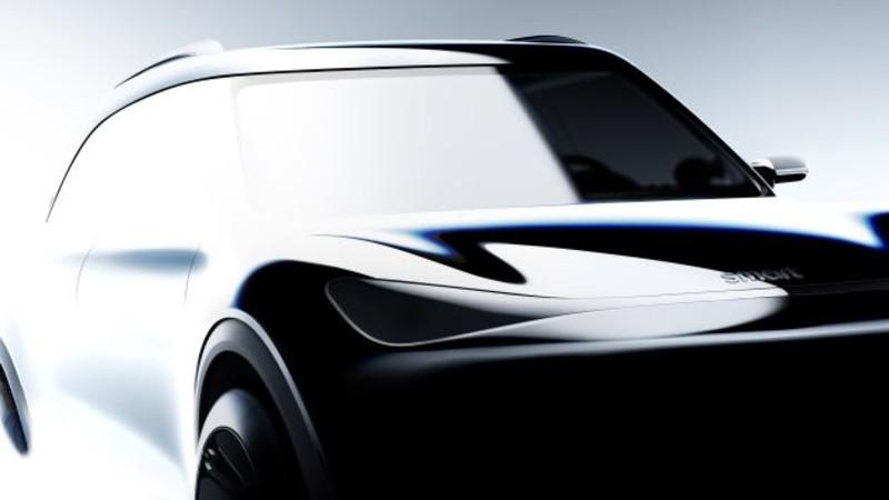 首款《Smart》純電小休旅首張預告圖曝光!尺寸更大瞄準《Mini Countryman》 全景玻璃天窗還會發光