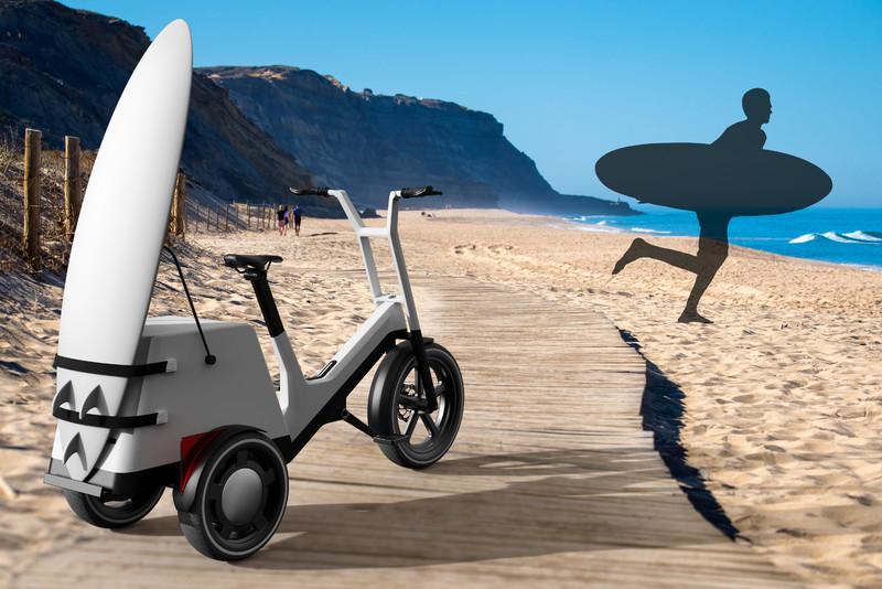 載人載貨都適宜《BMW》電動滑板車/電動三輪車