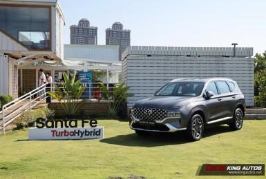 最多調降5.1萬元《Hyundai Santa Fe Turbo Hybrid》建議售價139.9萬元起|1.6升渦輪油電 電池原廠保固八年
