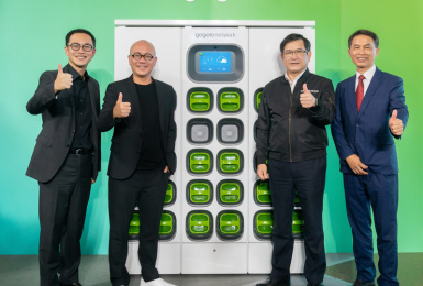 《Gogoro》換電站將開始儲能、供電?攜手台電、義電智慧能源 預計年底佈建超過1萬個電池交換櫃